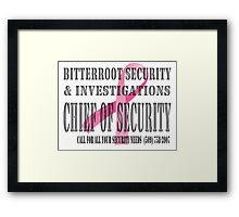 Chief - Breast Cancer awareness Framed Print