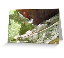 dripping leaves Greeting Card