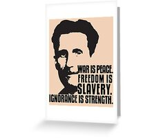 George Orwell 1984 Greeting Card