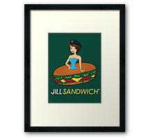Jill sandwich Framed Print