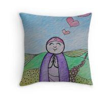 Country Mizuko Jizo Throw Pillow