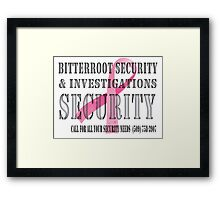 Security - Breast Cancer awareness Framed Print