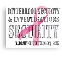 Security - Breast Cancer awareness Metal Print