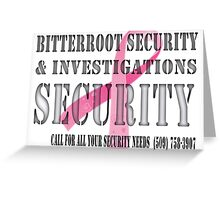 Security - Breast Cancer awareness Greeting Card