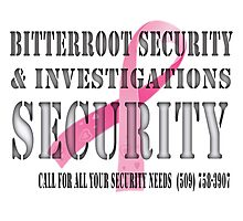 Security - Breast Cancer awareness Photographic Print