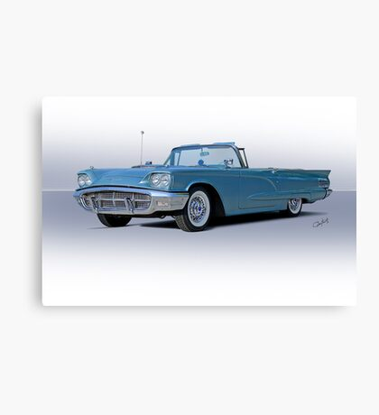 1960 Ford Thunderbird Convertible Canvas Print