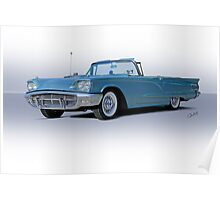 1960 Ford Thunderbird Convertible Poster