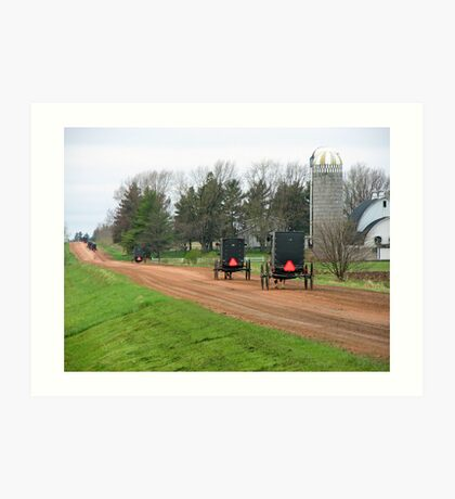 Amish Caravan Art Print