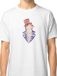 Willy Wonka And The Chocolate Factory Inspired Typography Classic T-Shirt