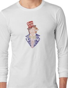 Willy Wonka And The Chocolate Factory Inspired Typography Long Sleeve T-Shirt
