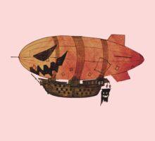 Jack o'lantern Pumkin Airship One Piece - Short Sleeve