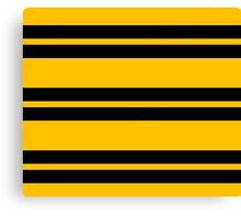 Hufflepuff Stripes - Thick Canvas Print