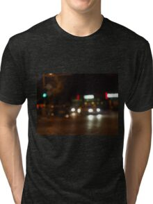 Blur and defocused lights from the headlights Tri-blend T-Shirt