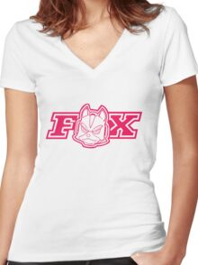 McCloud Racing (c) Women's Fitted V-Neck T-Shirt