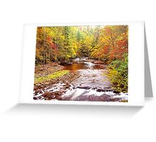 AUTUMN,LITTLE RIVER Greeting Card