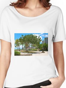 Waikiki Beach, Honolulu Oahu - HAWAII Women's Relaxed Fit T-Shirt