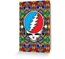 Grateful Dead Trippy Pattern Greeting Card