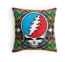 Grateful Dead Trippy Pattern Throw Pillow