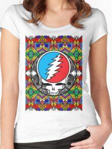 Grateful Dead Trippy Pattern Women's Fitted Scoop T-Shirt
