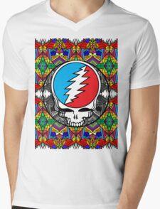 Grateful Dead Trippy Pattern Mens V-Neck T-Shirt