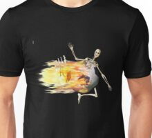 Flaming Soccer Ball Unisex T-Shirt