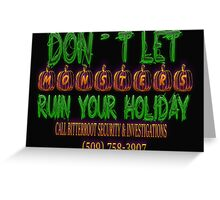 Halloween Security Scribbles Greeting Card