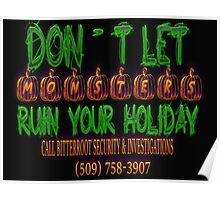 Halloween Security Scribbles Poster