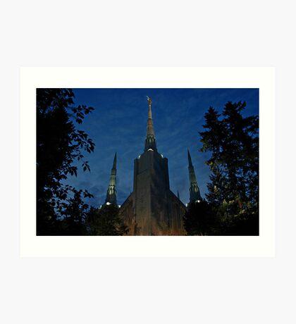 Portland Oregon LDS Temple 2 Art Print
