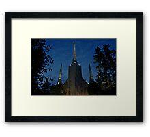 Portland Oregon LDS Temple 2 Framed Print
