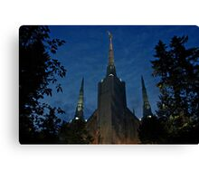 Portland Oregon LDS Temple 2 Canvas Print