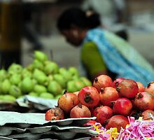 Shining Pomegranates - New Delhi  by steve nicholson