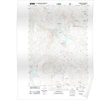 USGS Topo Map Oregon Broken Top 20110811 TM Poster