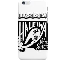 North Shore Traffic Sign MAN BLK iPhone Case/Skin