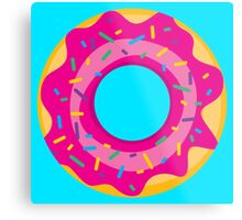 Donut with Pink Icing and Rainbow Sprinkles Metal Print