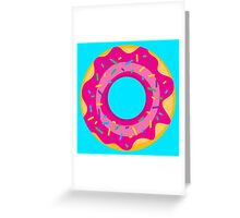 Donut with Pink Icing and Rainbow Sprinkles Greeting Card