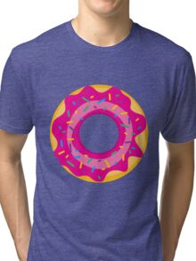 Donut with Pink Icing and Rainbow Sprinkles Tri-blend T-Shirt