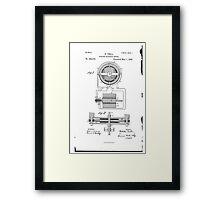 Nikola Tesla Electro-Magnetic Motor No. 382,279 Part 1 Framed Print