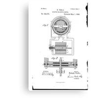 Nikola Tesla Electro-Magnetic Motor No. 382,279 Part 1 Canvas Print
