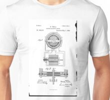 Nikola Tesla Electro-Magnetic Motor No. 382,279 Part 1 Unisex T-Shirt