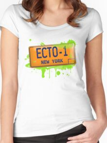 Ghostbusters ecto-1 license plate Women's Fitted Scoop T-Shirt