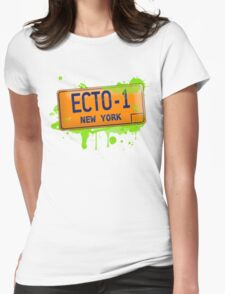 Ghostbusters ecto-1 license plate Womens Fitted T-Shirt