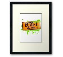 Ghostbusters ecto-1 license plate Framed Print