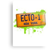 Ghostbusters ecto-1 license plate Metal Print