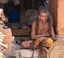 Sadhu at Pashupatinath, Kathmandu Nepal No:2 by Denny0976