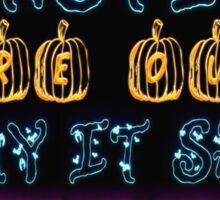 Halloween Security Bats Sticker