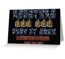 Halloween Security Bats Greeting Card