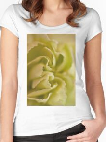 Carnation Macro Women's Fitted Scoop T-Shirt