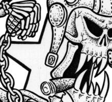 Mutant Skater Meatball Sticker