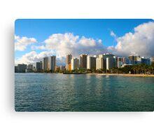 Waikiki Beach, Honolulu OAHU Canvas Print