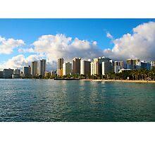 Waikiki Beach, Honolulu OAHU Photographic Print